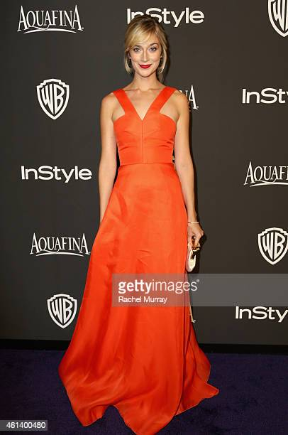Actress Caitlin Fitzgerald attends the 2015 InStyle And Warner Bros 72nd Annual Golden Globe Awards PostParty at The Beverly Hilton Hotel on January...