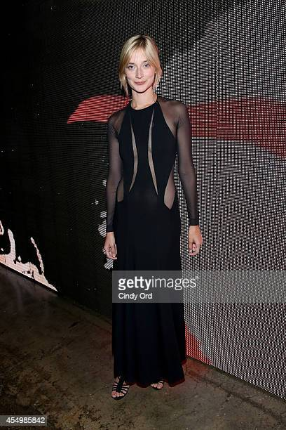 Actress Caitlin FitzGerald attends the Donna Karan New York 30th Anniversary fashion show during MercedesBenz Fashion Week Spring 2015 on September 8...