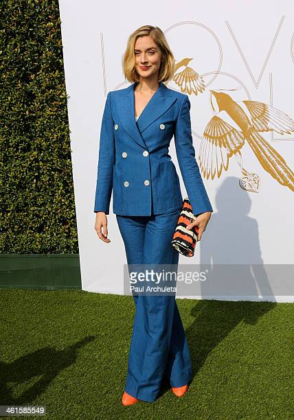 Actress Caitlin Fitzgerald attends the LoveGold event a celebration of Gold and Glamour at the Chateau Marmont on January 9 2014 in Los Angeles...