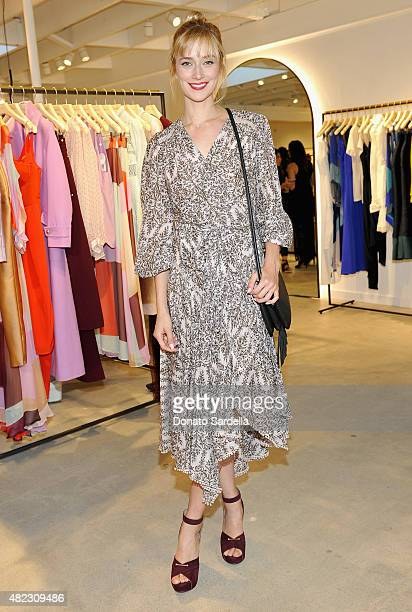 Actress Caitlin Fitzgerald attends the opening of the ZIMMERMANN Melrose Place Flagship Store hosted by Nicky and Simone Zimmermann on July 29 2015...