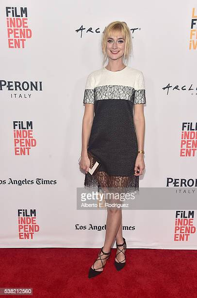 Actress Caitlin FitzGerald attends the premieres of Mercy and SBF TPJ during the 2016 Los Angeles Film Festival at Arclight Cinemas Culver City on...