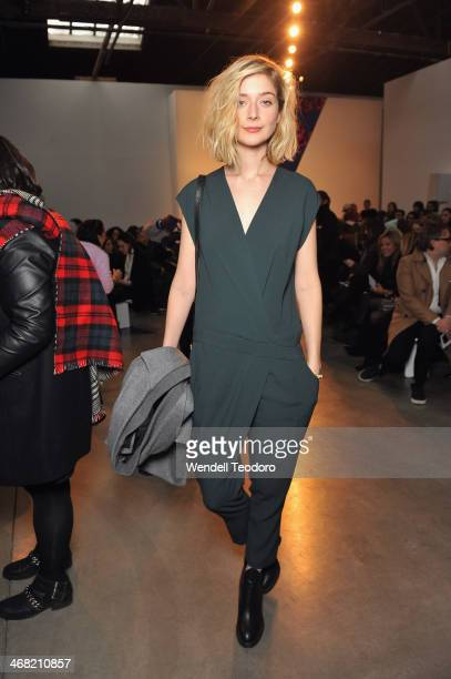 Actress Caitlin Fitzgerald attends the Thakoon show during MercedesBenz Fashion Week Fall 2014 at 545 West 22nd Street on February 9 2014 in the...