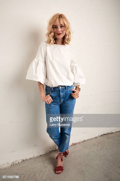 Actress Caitlin FitzGerald from Always Shine poses at the Tribeca Film Festival Getty Images Studio on April 15 2016 in New York City