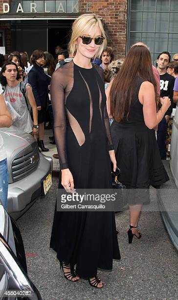 Actress Caitlin Fitzgerald is seen at Donna Karan New York during MercedesBenz Fashion Week Spring 2015 at 547 West 26th Street on September 8 2014...