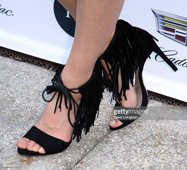 Actress Caitlin Fitzgerald shoe detail attends the 2nd Annual Ivy Innovator Film Awards at Smogshoppe on August 4 2015 in Los Angeles California