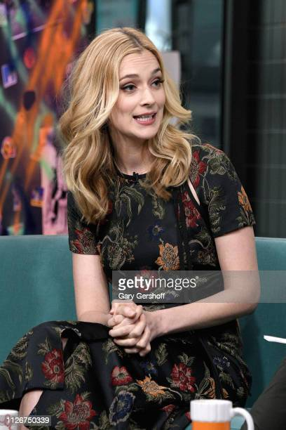 Actress Caitlin Fitzgerald visits the Build Brunch to discuss the film 'The Man Who Killed Hitler and then the Big Foot' at Build Studio on February...