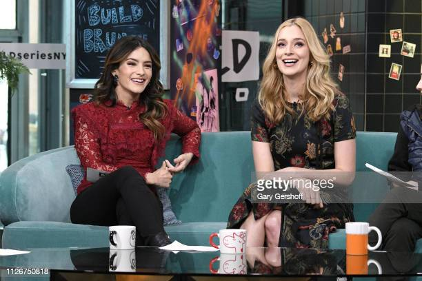 Actress Caitlin Fitzgerald visits the Build Brunch with guest cohost Sandra Vergara to discuss the film 'The Man Who Killed Hitler and then the Big...