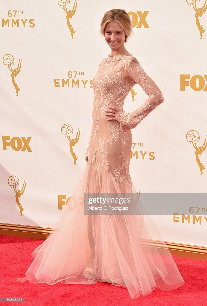 Actress Caitlin Gerard attends the 67th Emmy Awards at Microsoft Theater on September 20, 2015 in Los Angeles, California. 25720_001