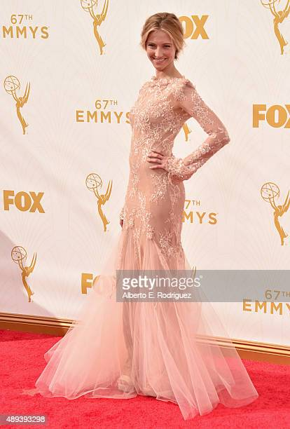 Actress Caitlin Gerard attends the 67th Emmy Awards at Microsoft Theater on September 20 2015 in Los Angeles California 25720_001