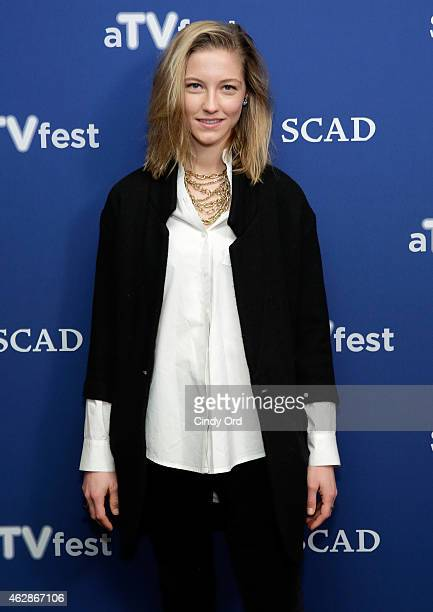 Actress Caitlin Gerard attends the 'American Crime' press junket during aTVfest presented by SCAD on February 6 2015 in Atlanta Georgia