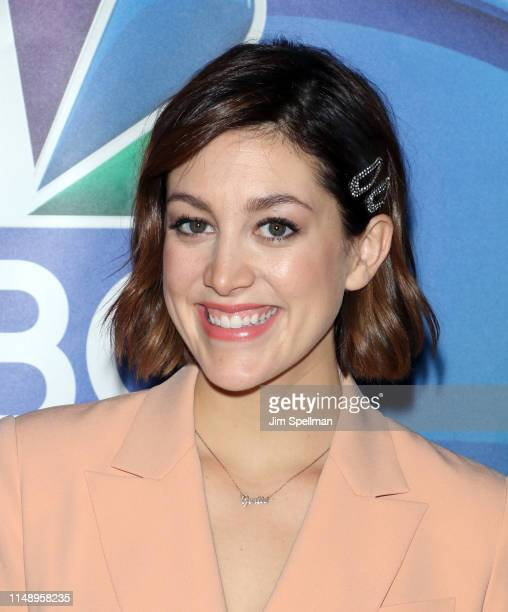 Actress Caitlin McGee attends the NBC 2019/20 Upfront at Four Seasons Hotel New York on May 13 2019 in New York City