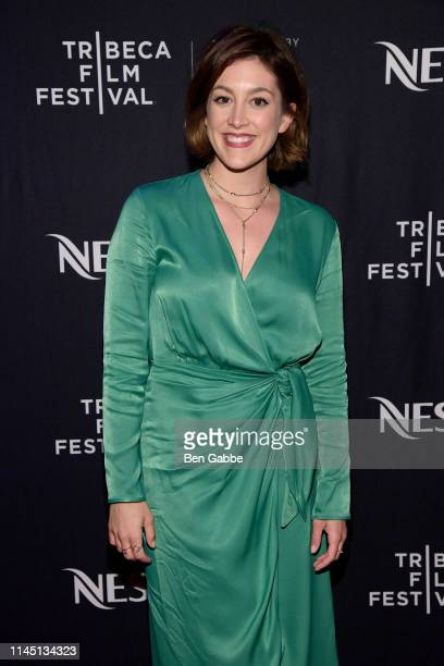 Actress Caitlin McGee attends the Tribeca Film Festival AfterParty For Standing Up Falling Down Hosted By Nespresso at Ainsworth Chelsea on April 25...