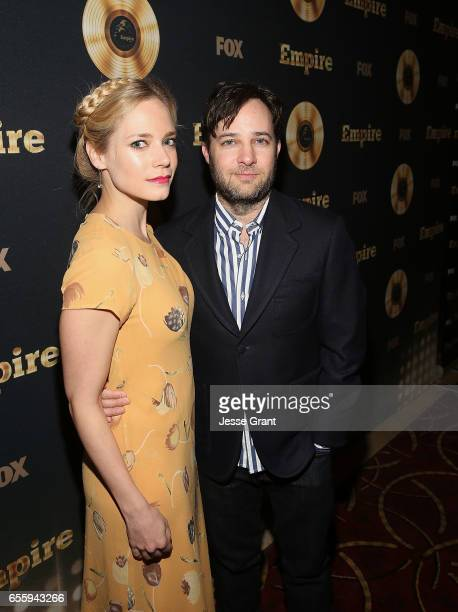 Actress Caitlin Mehner and executive producer Danny Strong attend the Spring Premiere of FOX's 'Empire' at Pacific Theatres at The Grove on March 20...
