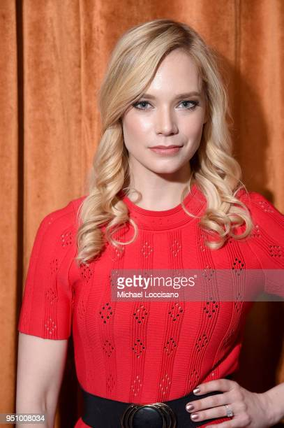 Actress Caitlin Mehner attends the after party for 'Nigerian Prince' hosted by ATT at Magic Hour Rooftop Bar Lounge during the 2018 Tribeca Film...