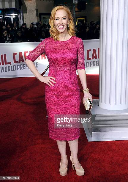 Actress Caitlin Muelder attends the Premiere of Universal Pictures' 'Hail Caesar' at the Regency Village Theatre on February 1 2015 in Westwood...