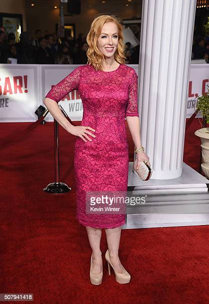 Actress Caitlin Muelder attends Universal Pictures' Hail Caesar premiere at Regency Village Theatre on February 1 2016 in Westwood California