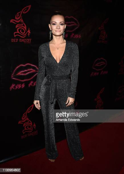 Actress Caitlin O'Connor arrives at the Los Angeles premiere of 'KISS KISS' at the Ahrya Fine Arts Theater by Laemmle on March 05 2019 in Beverly...