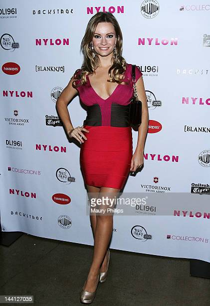 Actress Caitlin O'Connor attends the NYLON Magazine And Tommy Girl Celebrate The Annual May Young Hollywood Issue Party at Hollywood Roosevelt Hotel...
