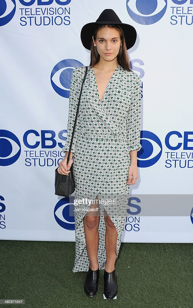 Actress Caitlin Stasey arrives at the CBS Summer Soiree at ...