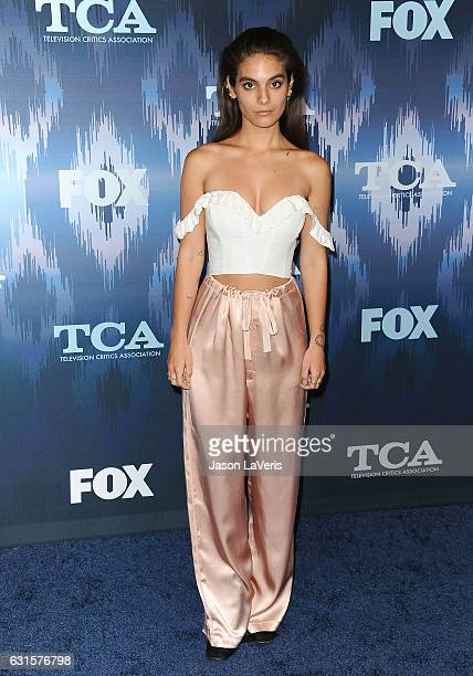 Actress Caitlin Stasey attends the 2017 FOX AllStar Party at Langham Hotel on January 11 2017 in Pasadena California