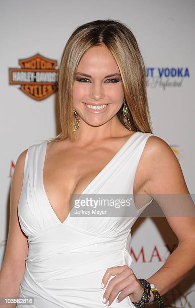 Actress Caitlin Upton arrives at the 11th Annual MAXIM HOT 100 Party at Paramount Studios on May 19 2010 in Los Angeles California