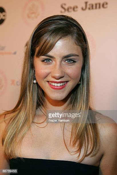 Actress Caitlin Wachs arrives at the inaugural ball and premiere of ABC's CommanderinChief held at The Regent Beverly Wilshire hotel on September 21...