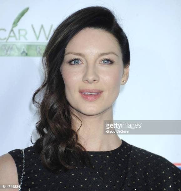 Actress Caitriona Balfe arrives at the 12th Annual Oscar Wilde Awards at Bad Robot on February 23 2017 in Santa Monica California