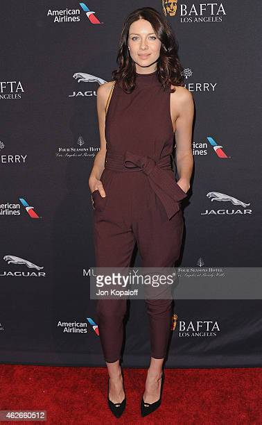Actress Caitriona Balfe arrives at the 2015 BAFTA Tea Party at The Four Seasons Hotel on January 10, 2015 in Beverly Hills, California.