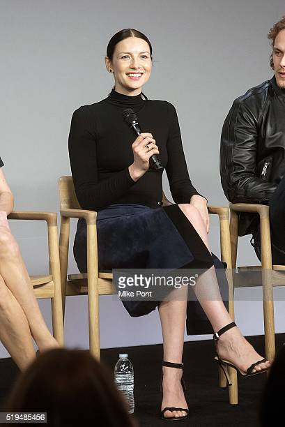 Actress Caitriona Balfe attends Apple Store Soho Presents Meet the Cast 'Outlander' at Apple Store Soho on April 6 2016 in New York City