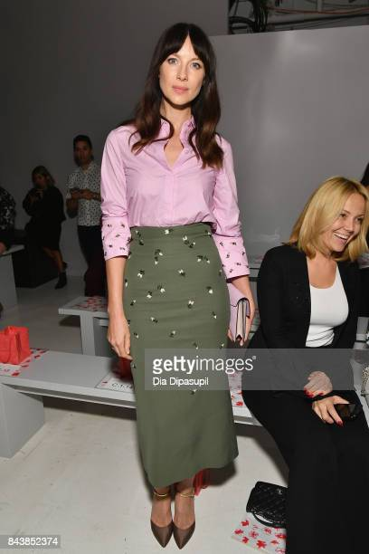 Actress Caitriona Balfe attends Noon By Noor fashion show during New York Fashion Week: The Shows at Gallery 3, Skylight Clarkson Sq on September 7,...