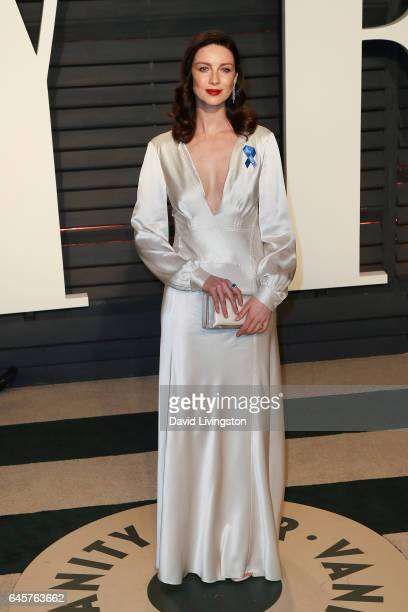 Actress Caitriona Balfe attends the 2017 Vanity Fair Oscar Party hosted by Graydon Carter at the Wallis Annenberg Center for the Performing Arts on...