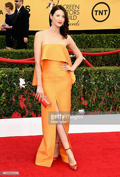 Actress Caitriona Balfe attends the 21st Annual Screen Actors Guild Awards at The Shrine Auditorium on January 25 2015 in Los Angeles California