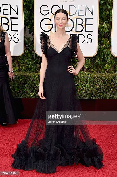 Actress Caitriona Balfe attends the 73rd Annual Golden Globe Awards held at the Beverly Hilton Hotel on January 10 2016 in Beverly Hills California