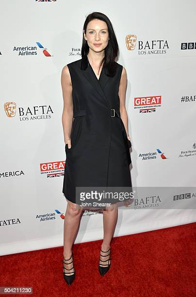 Actress Caitriona Balfe attends the BAFTA Awards Season Tea Party at Four Seasons Hotel Los Angeles at Beverly Hills on January 9 2016 in Los Angeles...