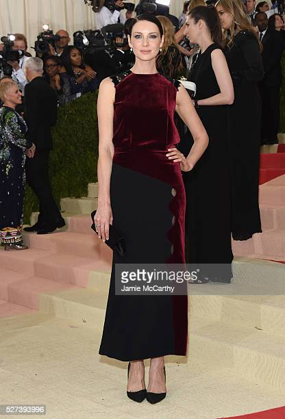Actress Caitriona Balfe attends the 'Manus x Machina Fashion In An Age Of Technology' Costume Institute Gala at Metropolitan Museum of Art on May 2...