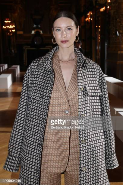 Actress Caitriona Balfe attends the Stella McCartney show as part of the Paris Fashion Week Womenswear Fall/Winter 2020/2021 on March 02, 2020 in...