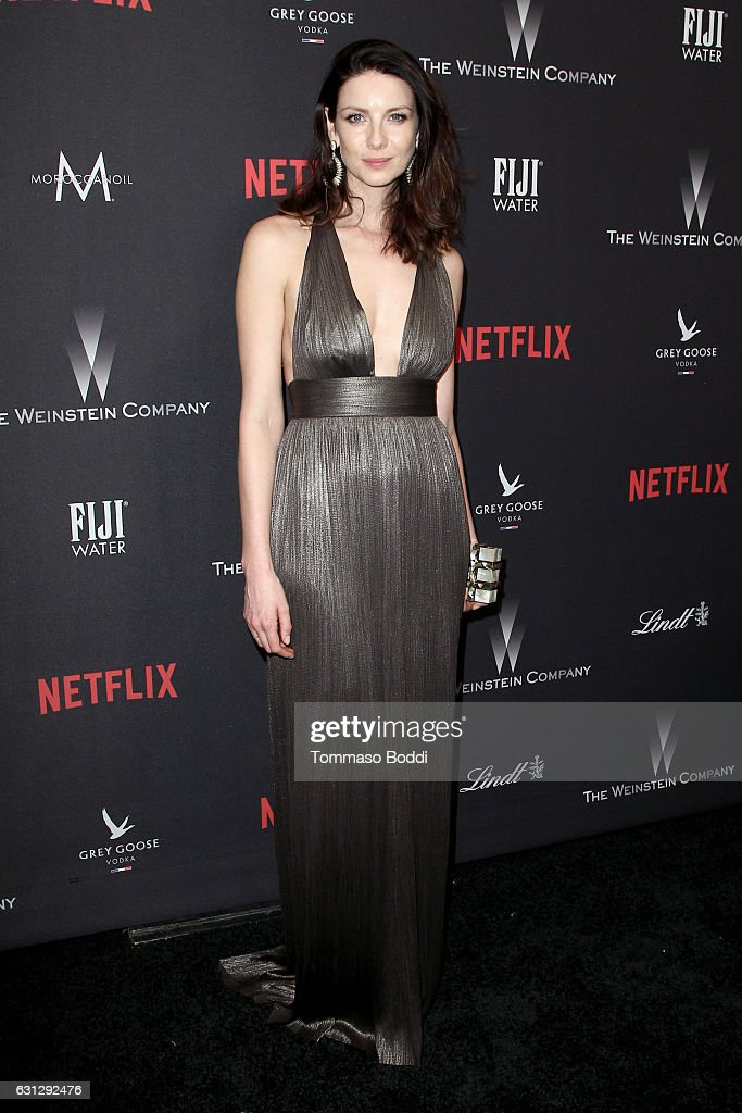 Actress Caitriona Balfe attends The Weinstein Company and Netflix Golden Globe Party, presented with FIJI Water, Grey Goose Vodka, Lindt Chocolate, and Moroccanoil at The Beverly Hilton Hotel on January 8, 2017 in Beverly Hills, California.