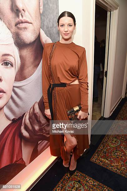 Actress Caitriona Balfe attends W Magazine Celebrates the Best Performances Portfolio and the Golden Globes with Audi and Moet Chandon at Chateau...