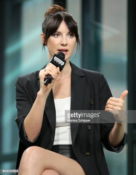Actress Caitriona Balfe discusses Outlander at Build Studio on September 6 2017 in New York City