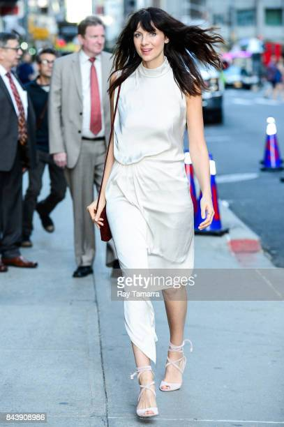 Actress Caitriona Balfe enters the The Late Show With Stephen Colbert taping at the Ed Sullivan Theater on September 07 2017 in New York City