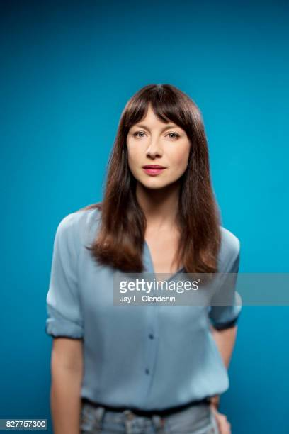Actress Caitriona Balfe from the television series Outlander is photographed in the LA Times photo studio at ComicCon 2017 in San Diego CA on July 22...