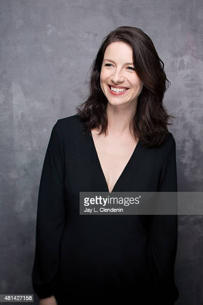 Actress Caitriona Balfe of ' Outlander' poses for a portrait at ComicCon International 2015 for Los Angeles Times on July 9 2015 in San Diego...