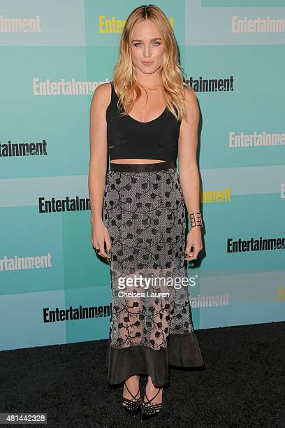 Actress Caity Lotz arrives at the Entertainment Weekly celebration at Float at Hard Rock Hotel San Diego on July 11 2015 in San Diego California