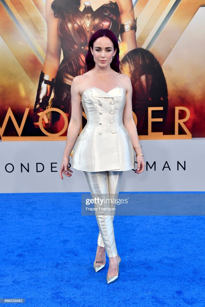 Actress Caity Lotz arrives at the Premiere Of Warner Bros. Pictures' 'Wonder Woman' at the Pantages Theatre on May 25, 2017 in Hollywood, California.