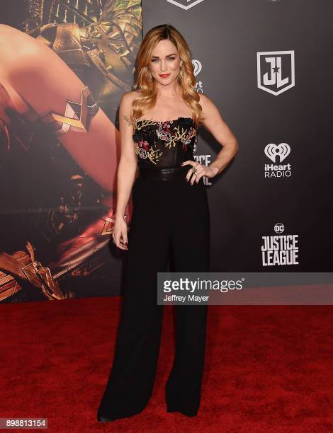 Actress Caity Lotz arrives at the premiere of Warner Bros Pictures' 'Justice League' at the Dolby Theatre on November 13 2017 in Hollywood California