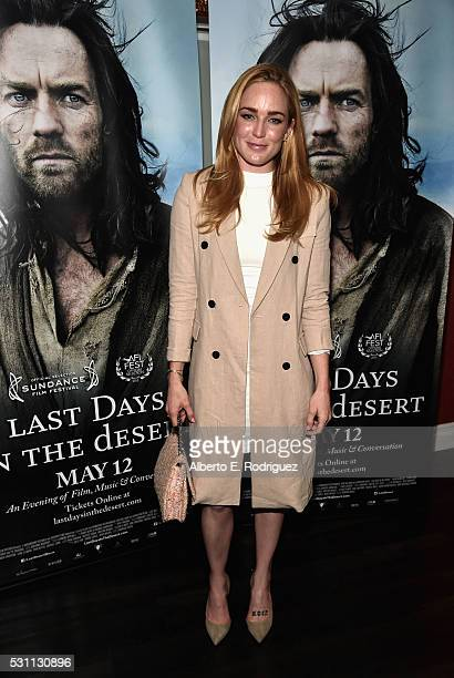 Actress Caity Lotz attends a VIP screening of Broad Green Pictures' Last Days In The Desert on May 12 2016 in Los Angeles California