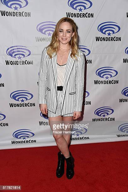 Actress Caity Lotz attends DC's Legends of Tomorrow panel at WonderCon 2016 at Los Angeles Convention Center on March 27 2016 in Los Angeles...