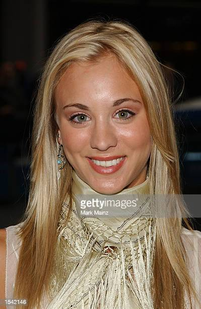 Actress Caley Cuoco arrives for the 'ABC Upfront' lineup announcment party at Cipriani's May 14 2002 in New York City