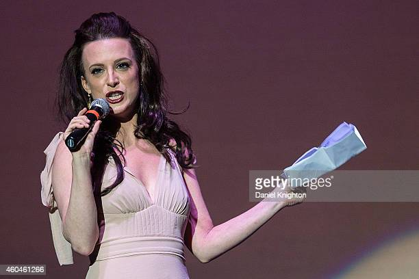 Actress Calico Cooper performs on stage during the 14th annual Christmas Pudding charity concert at Comerica Theatre on December 13 2014 in Phoenix...
