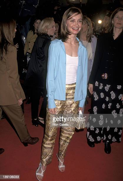 Actress Calista Flockart attends 'The Birdcage' Westwood Premiere on March 5 1996 at Mann Village Theatre in Westwood California
